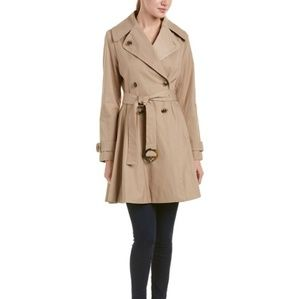 CeCe Tan Trench Coat Double Breasted Size XS